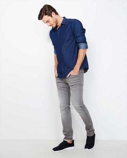 Jeans slim fit gris